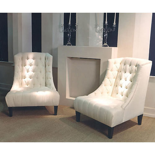Off White Bedroom High Back Chairs