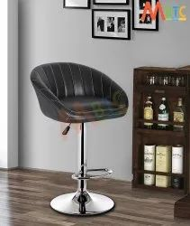 MBTC Judith Stripe Office Bar Stool Chair In Black
