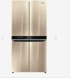 Whirlpool White W Aeries 4 Door 677 Ltrs Crystal Mocha Refrigerator