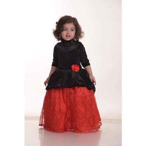 549a40908 Satin Also Available In Velvet And Chiffon Baby Designer Party Wear Dress