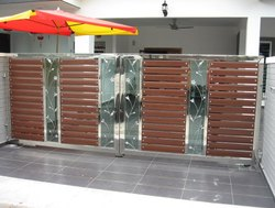 Stainless Steel Glass Gate