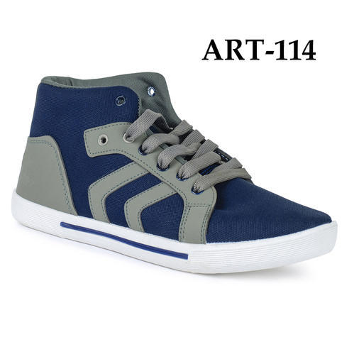 Sporter Men Grey and Blue Canvas Shoes