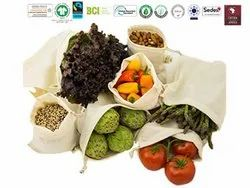Gots Organic Cotton Vegetable Bag