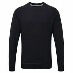 Plain Men's Black Round Neck Full Sleeve T Shirt