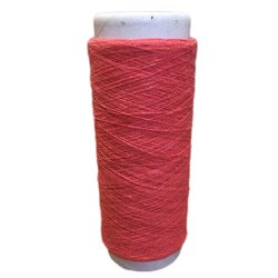 Open End Regenerated Furnishing Pink Cotton Yarn, For Textile Industries
