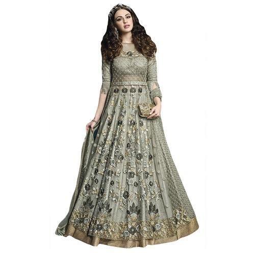 b464d22724 Net Sea Green Color Wedding Bridal Wear Heavy Embroidery Anarkali Suits