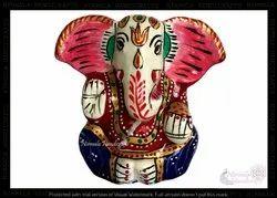 Metal Kan Ganesha Statues