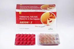 Carbonyl Iron, Folic Acid, Vitamin B12 and Zinc Capsules