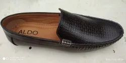 Synthetic Party Wear Black Loafer Shoes, Size: 6-10