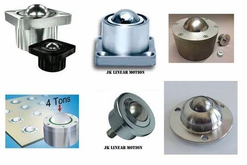 "16 Pcs Conveyor Steel Ball Transfer Bearing//Roller Ball Stud-Mount 1/"" Ball"