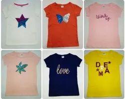 Custom Half Sleeve Ladies Printed T Shirt, Size: Medium
