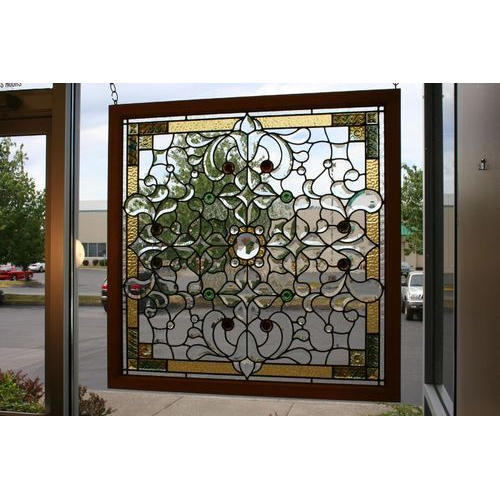 Leaded Beveled Glass, Shape: Rectangle
