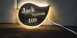 Home Decor Sparrow Shape LED Name Plate