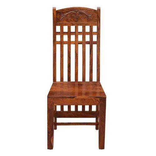 Wooden High Back Dining Chair