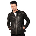 Mens Casual Black Biker Jacket