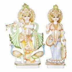 Marble Radha Krishna Standing Statue