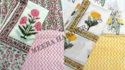 Meera Handicrafts Block Printed Cotton Suit Set