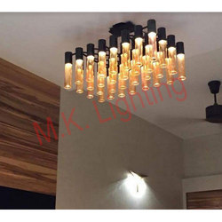 Hanging Chrome Ceiling Chandelier