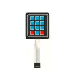 4x3 Matrix Membrane Switch Keypad