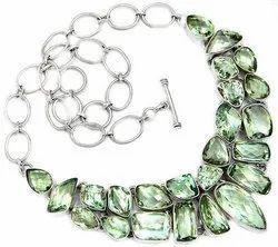 Green Amethyst Fancy Necklaces