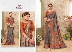 Triveni Present Jaymala Designer Fancy Saree Collection Surat