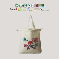India Tote Bag GOTS Organic Cotton