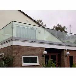 SS Tempered Glass Balcony Railing