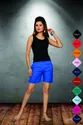 Women Black Top And Blue Shorts