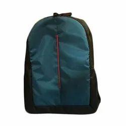 Blue & Black Nylon College Backpack, Bag Capacity: 5 Kg