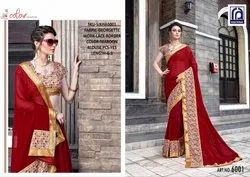 Rachna Georgette Sikha Catalog Saree Set For Woman