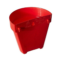 7 Inches Red Wall Planter