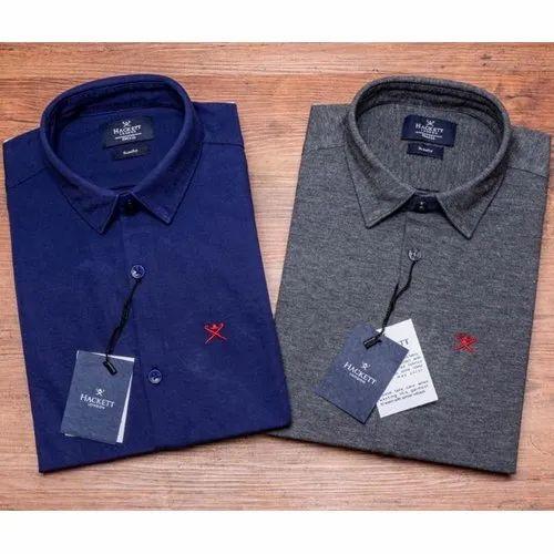327ff77416b86e Hackett Plain Mens Collar Neck Formal Shirt, Rs 360 /piece | ID ...