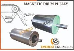 Green Stainless Steel Magnetic Drum Pulley, Capacity: 5 ton