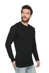 Men Round Neck Full Sleeve Waffle Sweatshirt