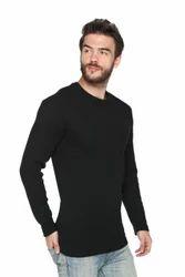 Men Round Neck Full Sleeve Waffle Sweatshirt
