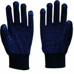 Cotton PVC Hand Gloves
