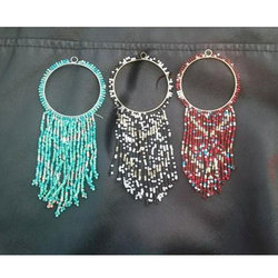 Black And Red Artificial Beaded Jewelry