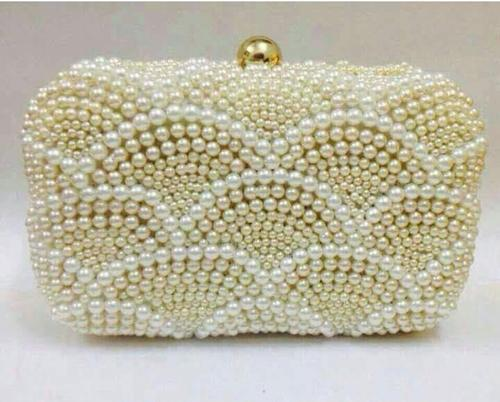 White Pearl Clutch at Rs 1000  piece
