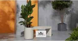 Granite Bench With Planter