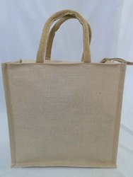 ZMR Cotton Webbing with Rope Plain Jute Shopping Bag, Capacity: 1 Kg
