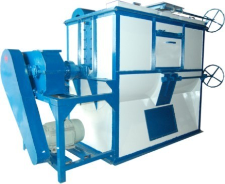 Automatic Mild Steel Triple Ribbon Mixture Machine, Capacity: 500 to 3000 kg/Hr