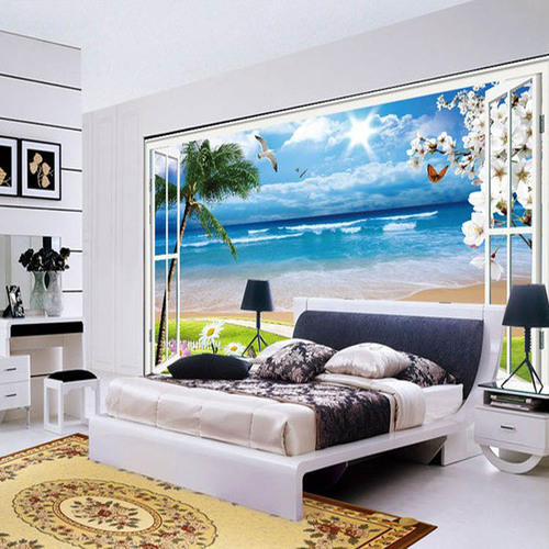 Non-woven Horizontal 3D Designer Bedroom Wallpaper, Rs 50