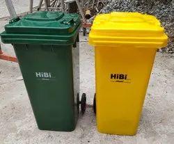 HIBI Plastic Wheeled Waste Dust Bin 120 ltr