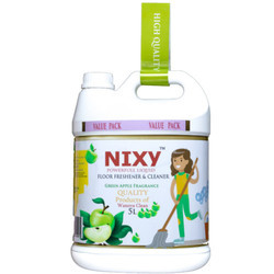 Concentrated Disinfectant Floor Cleaner Liquid 5 Ltr Green Apple - Refill