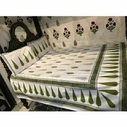 Printed Cotton Double Bed Sheet printing services, Size: 90x108 Inch