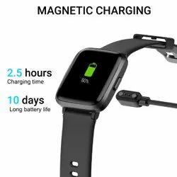 Ambrane Black Pulse Smart Watch, Pan India
