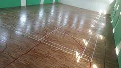 Indoor Teak Wooden Basketball Court