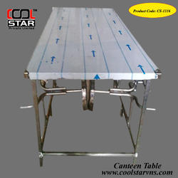 Heavy Steel Canteen Tables