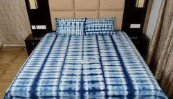 Tie Dye Shibori Print Cotton Thick Fabric Bed Sheet Handmade