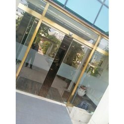 Brass Frame Sliding Glass Door